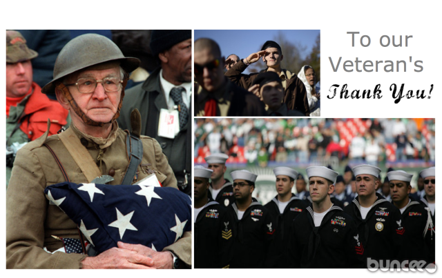 buncee thanks our veterans